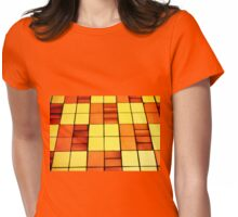 BRIGHT VINTAGE FLOOR Womens Fitted T-Shirt