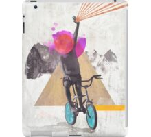 Rainbow child riding a bike iPad Case/Skin