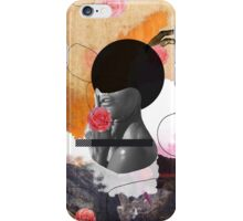 Contemporary fashionistas floral collage iPhone Case/Skin