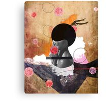 Contemporary fashionistas floral collage Canvas Print