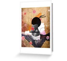 Contemporary fashionistas floral collage Greeting Card