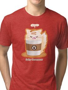 Purrista Pawfee: Salty Caramel Kitty Coffee Tri-blend T-Shirt