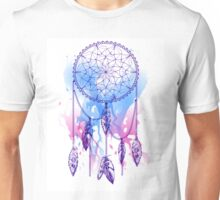 dream catcher with feathers with watercolor effect Unisex T-Shirt