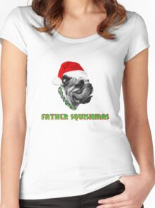 Father Squishmas Bulldog Women's Fitted Scoop T-Shirt