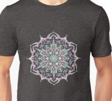 hand drawn pink and blue mandala Unisex T-Shirt