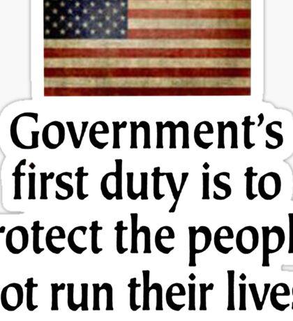 Government's Duty Sticker