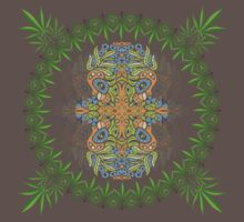 Psychedelic cannabis jungle spirit Kids Clothes