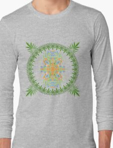 Psychedelic cannabis jungle spirit Long Sleeve T-Shirt