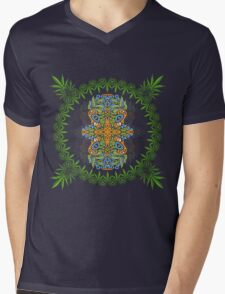 Psychedelic cannabis jungle spirit Mens V-Neck T-Shirt