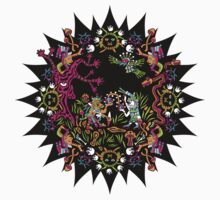 Aztec meeting psychedelic T-shirt Kids Clothes