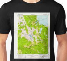 USGS TOPO Map California CA Fallen Leaf Lake 297460 1955 62500 geo Unisex T-Shirt