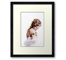 Winter beauty woman portrait Framed Print