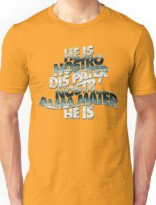HE IS - lake overcast - BLACK BACKGROUND Unisex T-Shirt