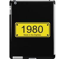 Made in the 1980s Number License Plate T-Shirt ~ Born in the Eighties iPad Case/Skin