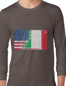 Italian American Half Italy Half America Flag Long Sleeve T-Shirt