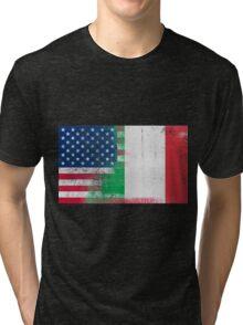 Italian American Half Italy Half America Flag Tri-blend T-Shirt