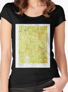 USGS TOPO Map California CA Challenge 289111 1950 24000 geo Women's Fitted Scoop T-Shirt