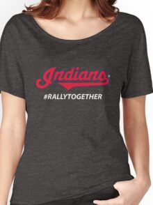 Cleveland Indians Rally Together Women's Relaxed Fit T-Shirt