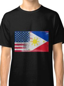 Filipino American Half Philippines Half America Flag  Classic T-Shirt