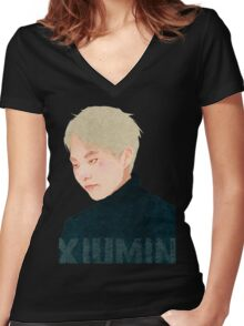xiumin Women's Fitted V-Neck T-Shirt