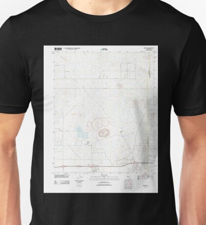 USGS TOPO Map California CA Boron 20120404 TM geo Unisex T-Shirt