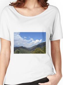 Natural landscape with the hills of Assisi, Italy Women's Relaxed Fit T-Shirt