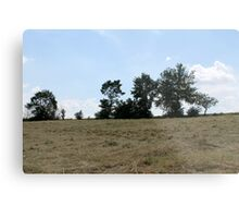 countryside landscape with hay Metal Print