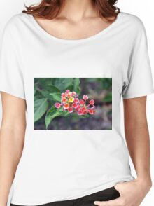 Small delicate flowers, natural backround Women's Relaxed Fit T-Shirt