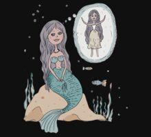 Cute beautiful Little Mermaid One Piece - Short Sleeve
