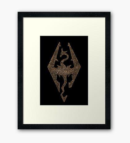 Skyrim symbol Framed Print