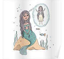 Cute beautiful Little Mermaid Poster