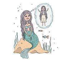 Cute beautiful Little Mermaid Photographic Print