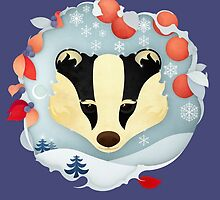 Snowy Badger by Compassion Collective