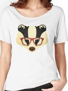 Hipster Badger Women's Relaxed Fit T-Shirt