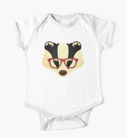 Hipster Badger One Piece - Short Sleeve