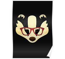 Hipster Badger Poster