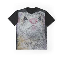 White Ferret Graphic T-Shirt