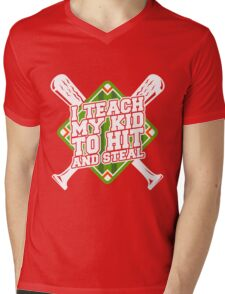 Hit And Steal Mens V-Neck T-Shirt
