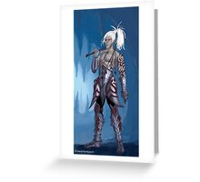 Dark Elf Greeting Card