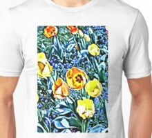 Gold 'n' Blue - Floral Collection Unisex T-Shirt