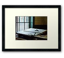 Triangle Ruler And Compass Framed Print