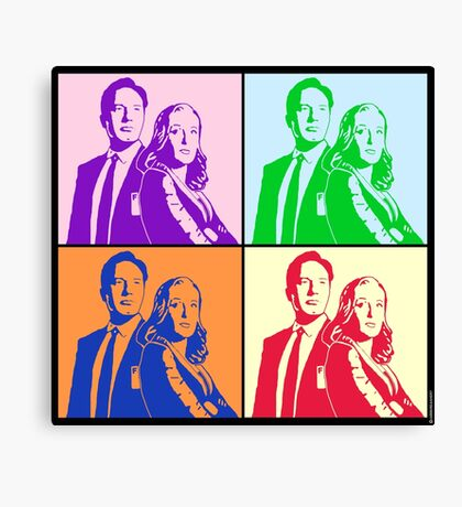 X-Files Meets Andy W Canvas Print
