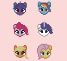 My Little Pony 8 Bit Characters Baby Tee