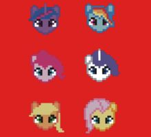 My Little Pony 8 Bit Characters Kids Clothes