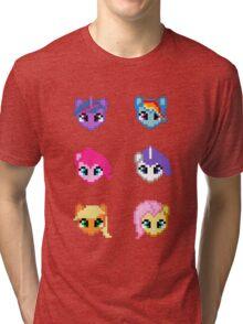 My Little Pony 8 Bit Characters Tri-blend T-Shirt