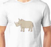 Cute hand drawn rhinoceros Unisex T-Shirt