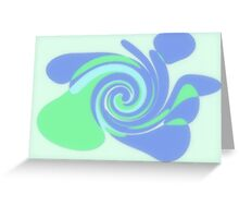 spiral background Greeting Card