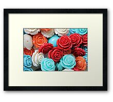 colored roses stones Framed Print