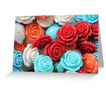 colored roses stones Greeting Card