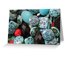 flower on stones Greeting Card